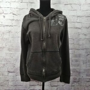 🆕American Eagle Outfitters Gray Zip Up Hoo…